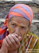 smoking woman of far west nepal6