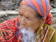 a beedi smoking woman of far west nepal