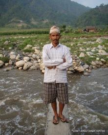 surendra bahadur sanjel at at woodnr bridge over bagmati river