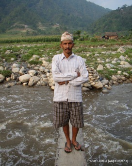 surendra bahadur sanjel at at woodnr bridge over bagmati river