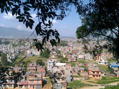 Parts of Kathmandu, north of Balaju, as seen from a moving bus