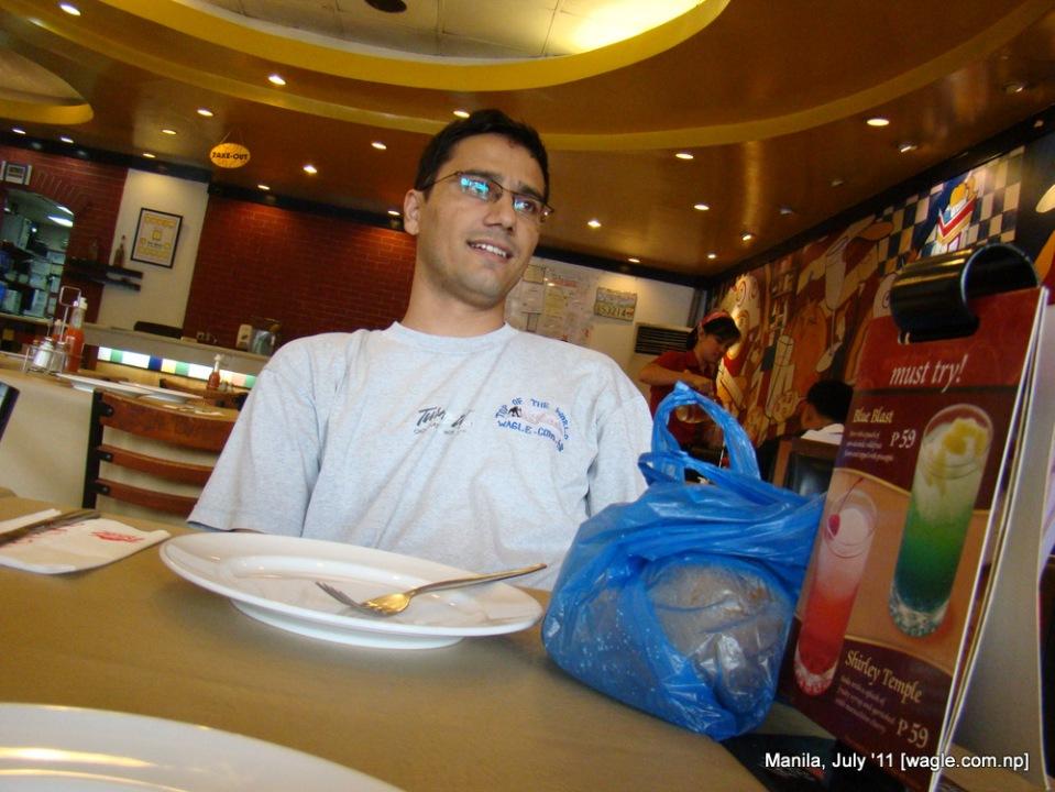 Manila food: an empty plate