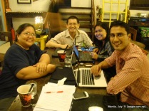 Manila food (for thought): with classmates in a coffee shop
