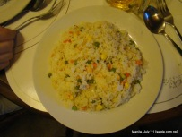 Manila food: Fried rice in a restaurant in Makati