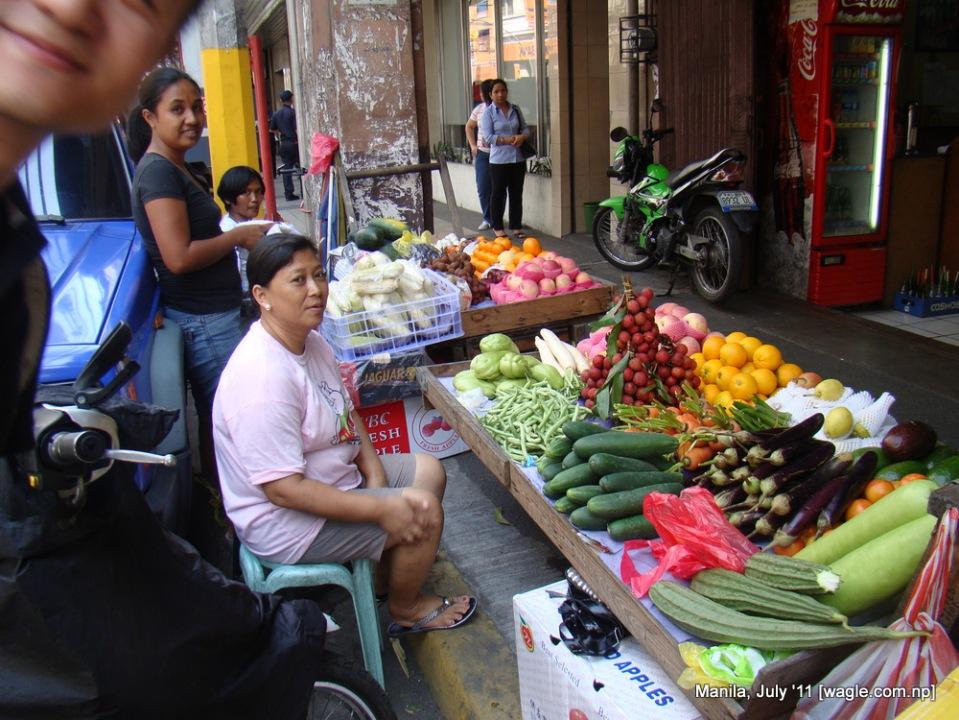 Manila China Town Veggie shop