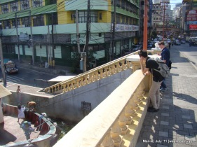 On the bank of Pasig River- Near China Town