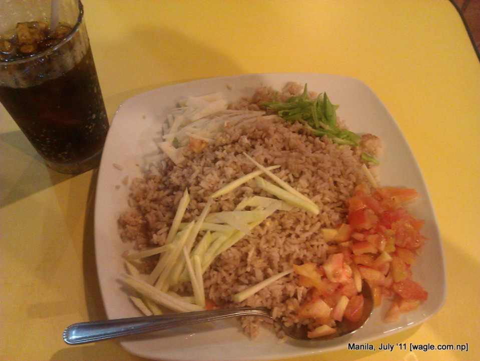 manila food: fried rice