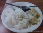 manila food: in the Uni canteen