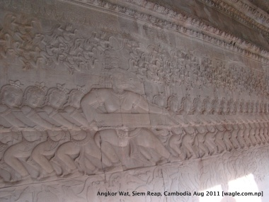 samundra manthan at angkor wat