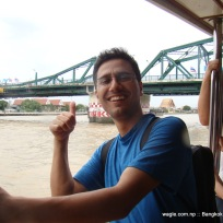 dw in the boat over bangkok's chao phraya river