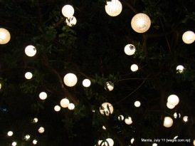 manila: light bulbs on a tree