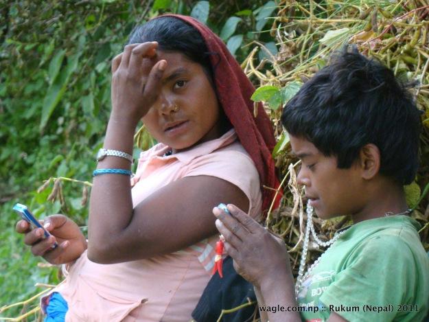 boy and girl of rukumkot