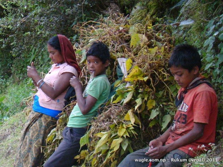 boys and girl near rukumkot