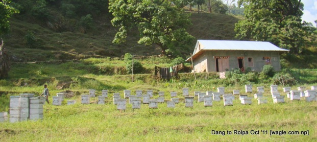 bee hives. this is in Rolpa