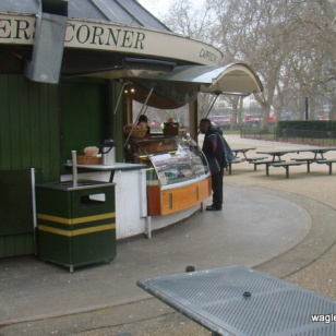 A shop near the Speakers' Corner in Hyde Park