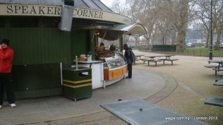 A shop near the Speakers' Corner in Hyde Park
