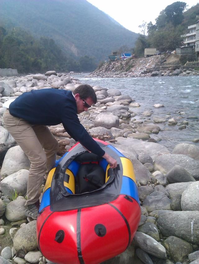 Raft- Sunkoshi river bank
