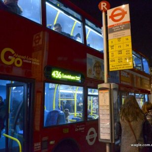 And you know from these signboards which bus will come and stop here for you to board in.
