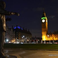 Nelson Mandela at London Parliament Square 2