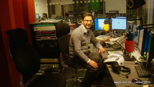 At the BBC Recording Studio
