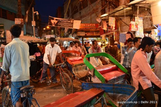 A melee of Ricksaw in Old Delhi