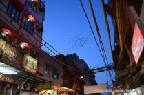 A peek into sky from Old Delhi street