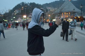 Clicking Shimla Tourists
