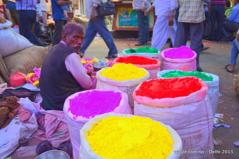 Colorful man of Old Delhi