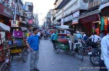 Dinesh Wagle on way to Chandni Chowk Old Delhi