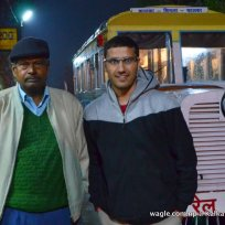 Dinesh Wagle-Right-With the Shimla Toy Train Driver at Barog Station