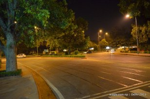Empty street- New Delhi