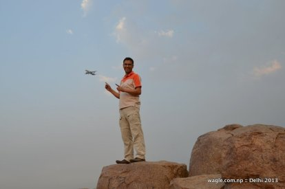 For me Parthasarathi Rocks (PSR), located inside the sprawling JNU campus, is the most beautiful place in the whole of Delhi. Have spent hours there chatting with friends and counting number of planes that approach the nearby Indira Gandhi International Airport.