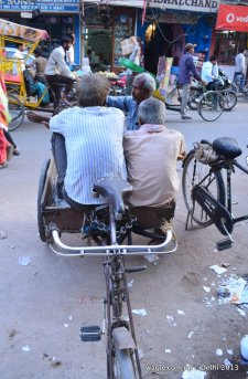 Meeting in a rickshaw