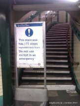 This staircase has 175 steps....