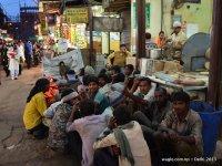 Waiting for food- Old Delhi street