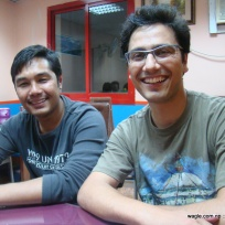 Yam (left) and Dinesh