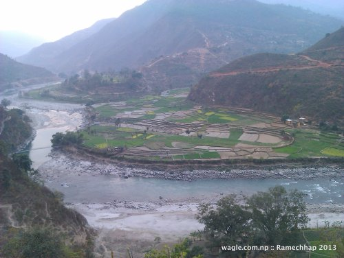 Near Manthali, district headquarters of Ramechhap district. Tamakoshi river.