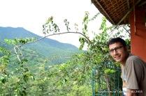 Behind Seto Gumba is the valley of Ichangunarayan and the hills.