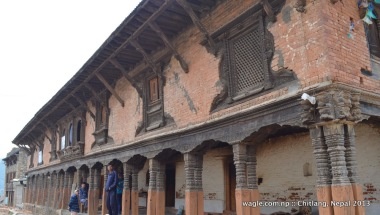The Dharmashala- part of it houses policemen.