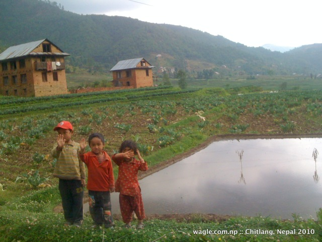 Chitlang kids waved to us as we drove by. May 2010