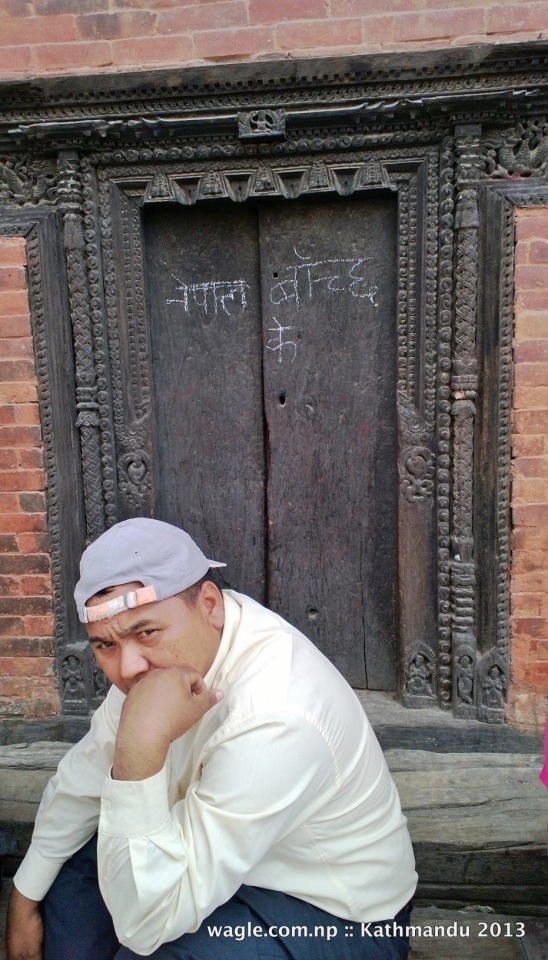 Ke Nepal banchla? Serious question indeed. At Kumari House, Darbar Square, Basantapur, Kathmandu. 18 May 2013
