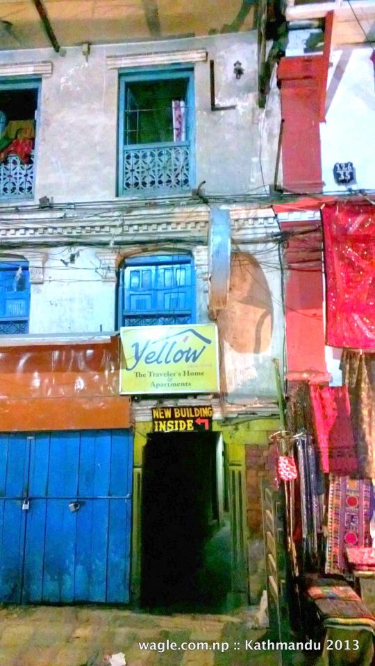 building inside- in freak street, kathmandu
