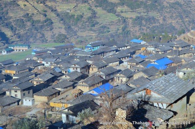 thabang village of rolpa, nepal