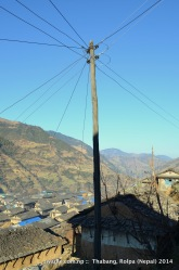 An electricity pole in Thabang