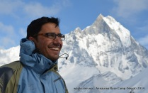 With Mt Machhapuchhre-- at ABC