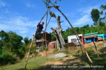 Linge ping: 'Leaving Earth' as they say and do during Dashain.