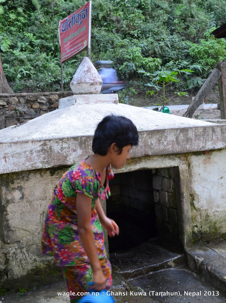 A girl and a well