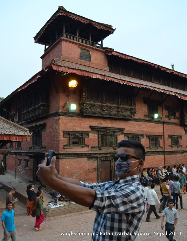 A selfie at Patan Darbar Square