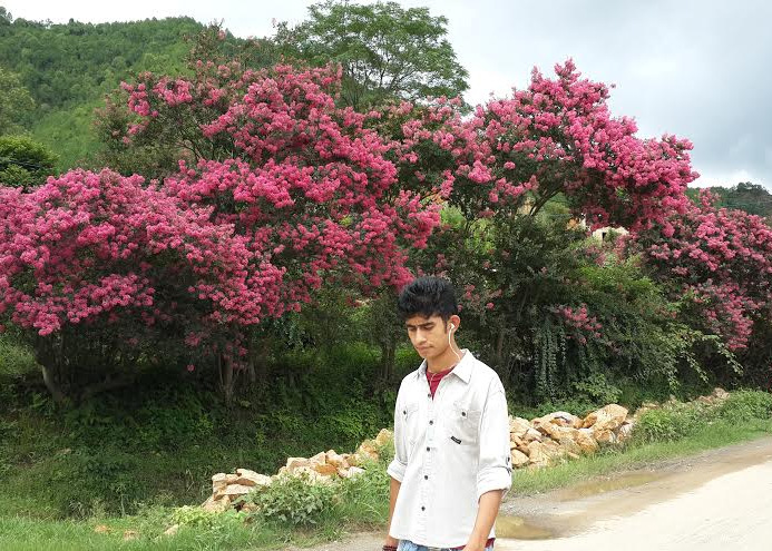 """""""To analyze the charms of flowers is like dissecting music; it is one of those things which it is far better to enjoy, than to attempt to fully understand."""" -Henry T. Tuckerman [Location: somewhere in Lalitpur, Nepal.]"""
