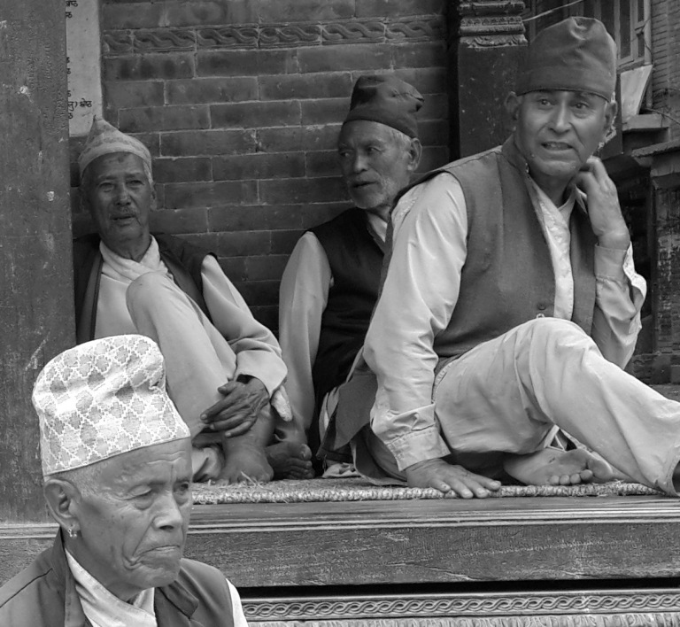 Old men of bhaktapur 06
